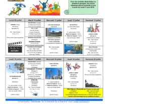 ACTIVITES JEUNESSE - CCPH Juillet 2018
