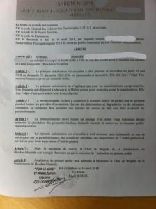 COMMERCES AMBULANTS Arrêté municipal
