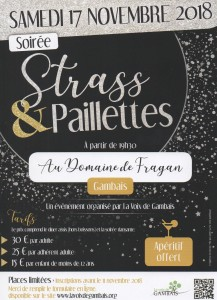 AFFICHE 2018 STRASS PAILLETTES